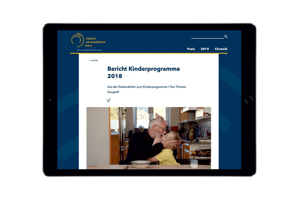 Theresa Duck Webseite Robert Geisendörfer Preis Webdesign 4