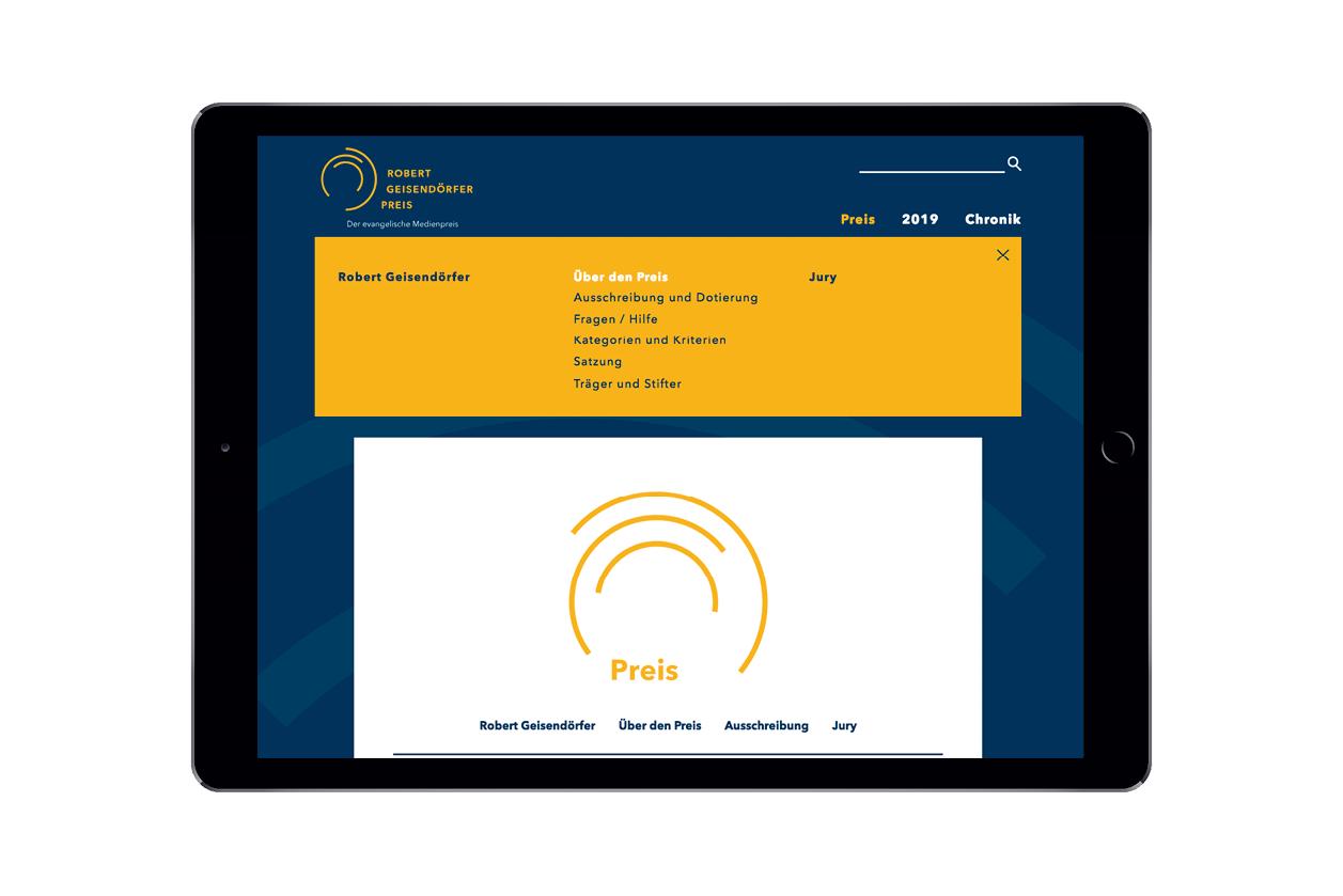 Theresa Duck Webseite Robert Geisendörfer Preis Webdesign 25